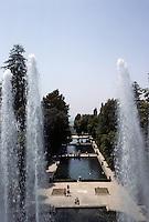 Tivoli: Villa D'Este--view of fish ponds from Organ Fountain. Photo '83.