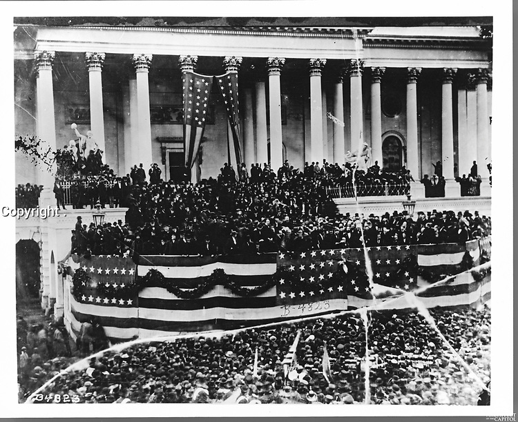 INAUGRATION OF ULYSSES S. GRANT,<br /> March 4, 1869 on the East Front of the U.S. Capitol<br /> <br /> Photo by Architect of the Capitol photographers.