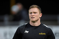 Chris Ashton of Northampton Saints warms up before the LV= Cup second round match between Ospreys and Northampton Saints at Riverside Hardware Brewery Field, Bridgend (Photo by Rob Munro)
