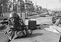 - NATO intervention in Bosnia-Herzegovina, ...Centauro armoured cars of Garibaldi brigade enter in Sarajevo (January 1996)....- intervento NATO in Bosnia-Herzegovina, autoblindo Centauro della brigata Garibaldi entrano a Sarajevo (gennaio 1996)