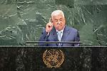 LOS general debate – 27 September<br /> <br /> AM<br /> <br /> His Excellency Mahmoud Abbas, President, State of Palestine
