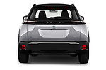 Straight rear view of 2020 Peugeot e-2008 GT 5 Door SUV Rear View  stock images