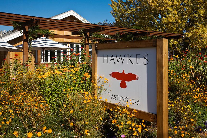 HAWKES TASTING ROOM in wine country - HEALDSBURG. CALIFORNIA