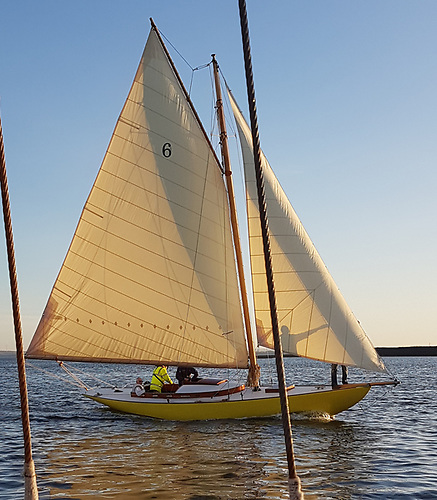 Naneen - Dun Laghaire-built in 1905 - demonstrates her timeless elegance on her maiden sail in restored form