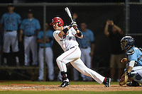 Ball State Cardinals outfielder Alex Call (8) during a game against the Maine Black Bears on March 3, 2015 at North Charlotte Regional Park in Port Charlotte, Florida.  Ball State defeated Maine 8-7.  (Mike Janes/Four Seam Images)