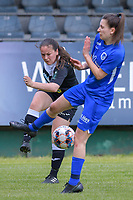 Valentine Hannecart (8) of Eendracht Aalst pictured during a female soccer game between Eendracht Aalst and Racing Genk on the 10 th and last matchday of play off 2 of the 2020 - 2021 season of Belgian Scooore Womens Super League , Saturday 29 st of May 2021  in Aalst , Belgium . PHOTO SPORTPIX.BE | SPP | STIJN AUDOOREN