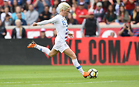 Houston, TX - Sunday April 8, 2018: Megan Rapinoe during an International friendly match versus the women's National teams of the United States (USA) and Mexico (MEX) at BBVA Compass Stadium.