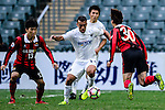 Auckland City Midfielder Clayton Lewis (c) in action during the 2017 Lunar New Year Cup match between Auckland City FC (NZL) vs FC Seoul (KOR) on January 28, 2017 in Hong Kong, Hong Kong. Photo by Marcio Rodrigo Machado/Power Sport Images
