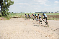 always tricky cornering over the gravel<br /> <br /> 91st Schaal Sels 2016