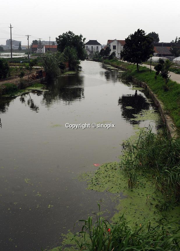 Waterways at Yaozhuan township next to Renesola's Yuhui plant, Zhejiang, China.