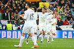 Real Madrid's Cristiano Ronaldo celebrates goal during Champions League 2015/2016 Quarter-finals 2nd leg match. April 12,2016. (ALTERPHOTOS/Acero)