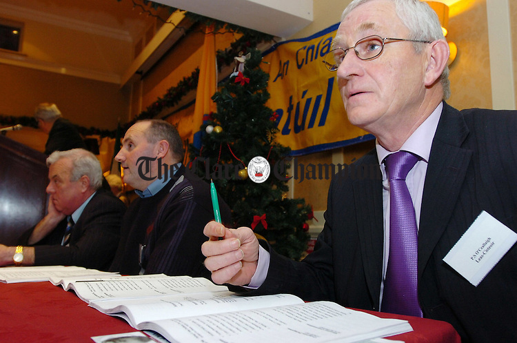 PJ Kelly, Asst Treasurer, Clare County GAA convention Auburn Lodge Ennis.Pic Arthur Ellis.