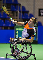 Rotterdam,Netherlands, December 15, 2015,  Topsport Centrum, Lotto NK Tennis, Wheelchair tennis, Rody de Bie (NED)<br /> Photo: Tennisimages/Henk Koster