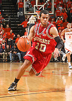 NC State's Javier Gonzalez_Virginia held North Carolina State scoreless for more than 7 minutes on the way to a 59-47 victory Wednesday night at the John Paul Jones Arena in Charlottesville, VA. Virginia (14-6, 5-2 Atlantic Coast Conference) regained a share of first place in the conference. (Photo/Andrew Shurtleff)....