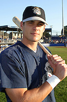 August 19, 2003:  Brad Snyder of the Mahoning Valley Scrappers, Class-A affiliate of the Cleveland Indians, during a NY-Penn League game at Dwyer Stadium in Batavia, NY.  Photo by:  Mike Janes/Four Seam Images