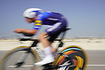 Iljo Keisse (BEL) Deceuninck-Quick Step speeds by during Stage 2 of the 2021 UAE Tour an individual time trial running 13km around  Al Hudayriyat Island, Abu Dhabi, UAE. 22nd February 2021.  <br /> Picture: Eoin Clarke | Cyclefile<br /> <br /> All photos usage must carry mandatory copyright credit (© Cyclefile | Eoin Clarke)