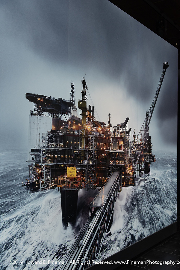 Oil Museum photo of a North Sea platform