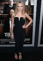 BEVERLY HILLS, CA, USA - OCTOBER 01: Brianne Howey arrives at the Los Angeles Premiere Of Warner Bros. Pictures And Village Roadshow Pictures' 'The Judge' held at the Samuel Goldwyn Theatre at The Academy of Motion Picture Arts and Sciences on October 1, 2014 in Beverly Hills, California, United States. (Photo by Xavier Collin/Celebrity Monitor)