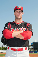 Batavia Muckdogs pitcher Trevor Williams (46) during game against the Staten Island Yankees at Richmond County Bank Ballpark at St.George on July 18, 2013 in Staten Island, NY.  Batavia defeated Staten Island 8-2.  (Tomasso DeRosa/Four Seam Images)