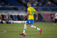 22nd July 2021; Stadium Yokohama, Yokohama, Japan; Tokyo 2020 Olympic Games, Brazil versus Germany; Richarlison of Brazil on the ball heads for goal