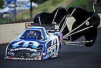 Jul, 22, 2011; Morrison, CO, USA: NHRA funny car driver Matt Hagan during qualifying for the Mile High Nationals at Bandimere Speedway. Mandatory Credit: Mark J. Rebilas-