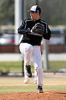 March 17, 2010:  Pitcher Paul Lopez of the Long Island Blackbrids at Lake Myrtle Park in Auburndale, FL.  Photo By Mike Janes/Four Seam Images