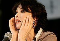 IAugust 2004 File Photo - Montreal, Quebec, Canada -<br /> Isabelle Adjani Press Conference