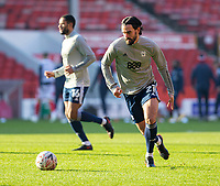 9th January 2021; City Ground, Nottinghamshire, Midlands, England; English FA Cup Football, Nottingham Forest versus Cardiff City; Marlon Pack of Cardiff City running with the ball during the warm up