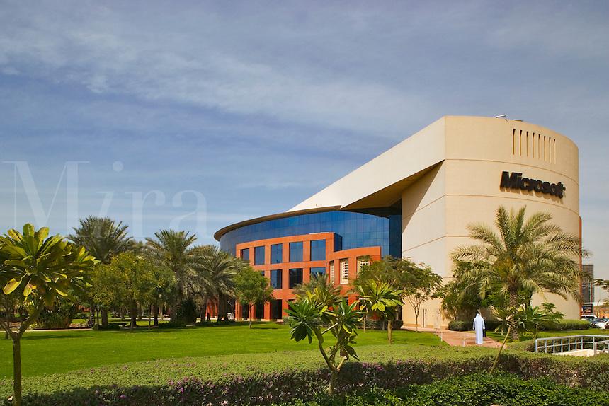 Microsoft headquarters and office in the Enterprise Zone, one of the Dubai Free Zones. Dubai. United Arab Emirates.