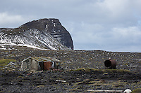 Abandoned research station on Heard Island, Antarctica
