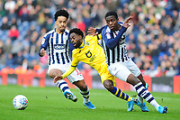 Nathan Dyer of Swansea City is fouled by Nathan Ferguson of West Bromwich Albion during the Sky Bet Championship match between West Bromwich Albion and Swansea City at The Hawthorns in Birmingham, England, UK. Sunday 08 December 2019