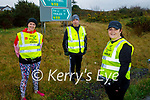 Margaret Foley (front) with only 11km to go as she is walking from the Moyvane to the UHK in Tralee with her friends Siobhán Dowling and Harry Slemon to raise money for the mental health unit in University Hospital Kerry.