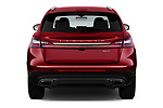 Straight rear view of a 2019 Lincoln Nautilus Select 5 Door SUV stock images