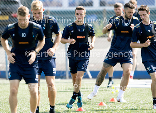 St Johnstone Training….27.07.18<br />Stefan Scougall pictured training on the artificial pitch at McDiarmid Park this morning in preparation for tomorrow's Betfred Cup game at Forfar.<br />Picture by Graeme Hart.<br />Copyright Perthshire Picture Agency<br />Tel: 01738 623350  Mobile: 07990 594431
