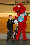 Dai the Dragon with Winner Bevan Smith age 7 - Daniel Munson Memorial Track Event - Welsh Cycling Union -  Newport - Wales. 23th October 2010.  Please Credit - Ian Cook - IJC Sports Photography
