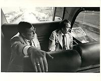 Joe Clark<br />  et ses conseillers durant la campagne pour l'élection du 4 juin 1979<br /> <br /> <br /> PHOTO : agence quebec presse