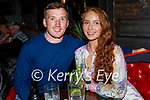 Enjoying the evening in Molly J's on Friday, l to r: Owen O'Flynn and Caolainn Healy from Glin.