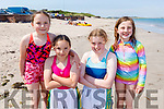 Rachel and Emily Heasman, Sinead and Grainne Dowd enjoying the beach in Castlegregory on Bank Holiday Monday..