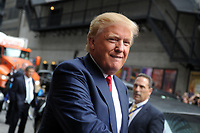 NEW YORK, NY - SEPTEMBER 22: Donald Trump arrives to 'The Late Show With Stephen Colbert' at Ed Sullivan Theater on September 22, 2015 in New York City.<br /> <br /> People:  Donald Trump