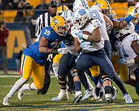 North Carolina running back Jordon Brown. The North Carolina Tarheels defeated the Pitt Panthers football team 34-31 at Heinz Field, Pittsburgh, Pennsylvania on November 9, 2017.