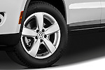 Tire and wheel close up detail view of a 2010 Volkswagen Tiguan Wolfsburg SUV  Stock Photo