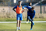 St Johnstone Training…29.10.19<br />Jason Kerr and Chris Kane pictured during training this morning at McDiarmid Park ahead of tomorrow's game against Hearts.<br />Picture by Graeme Hart.<br />Copyright Perthshire Picture Agency<br />Tel: 01738 623350  Mobile: 07990 594431