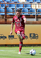 Kerim Mrabti (19) of KV Mechelen gives a pass pictured during a friendly soccer game between KV Mechelen and the Greek Volos NFC during the preparations for the 2021-2022 season , on saturday 17 of July 2021 in GEEL , Belgium . PHOTO SEVIL OKTEM | SPORTPIX