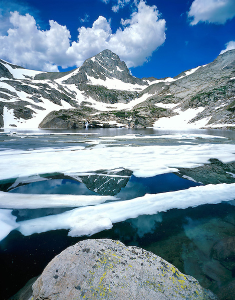 Mount Toll (12979 ft) and Blue Lake in the Indian Peaks Wilderness, Boulder, Colorado, USA. Private photo tours to Indian Peaks.