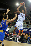 MADRID, Spain (22/01/11). Liga ACB de baloncesto, jornada 18, Real Madrid vs Asefa Estudiantes. Caja Magica...Clay Tucker...©Raul Perez .