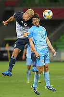 Melbourne, February 23, 2019 - Keisuke Honda (4) of Melbourne Victory in action in the AFC match between Melbourne Victory and Daegu FC at AAMI Stadium in Melbourne, Australia.