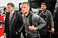 Fleetwood Town's assistant manager Clint Hill  arriving for the Sky Bet League 1 match between Doncaster Rovers and Fleetwood Town at the Keepmoat Stadium, Doncaster, England on 6 October 2018. Photo by Stephen Buckley / PRiME Media Images.