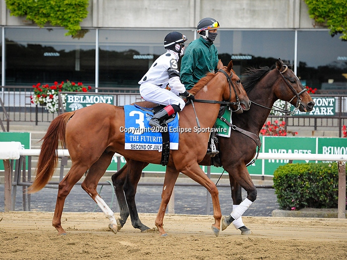 October 11, 2020: Second of July, ridden by Dylan Davis, wins the 2020 running of the G3 Futurity S. at Belmont Park in Elmont, NY. Sophie Shore/ESW/CSM