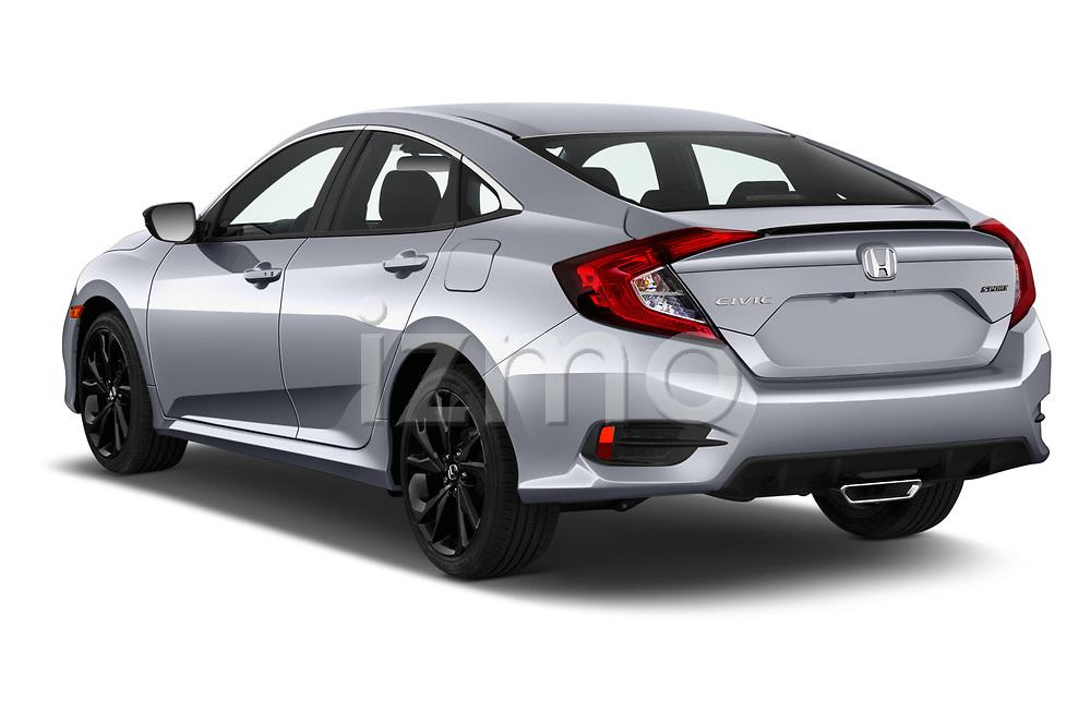 Car pictures of rear three quarter view of 2020 Honda Civic-Sedan Sport 4 Door Sedan Angular Rear