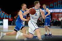 18-05-2021: Basketbal: Donar Groningen v Heroes Den Bosch: Groningen, Donar speler Henry Caruso met Den Bosch speler Dominic Gilbert